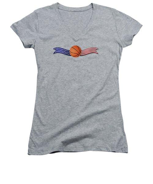 Usa Basketball Women's V-Neck