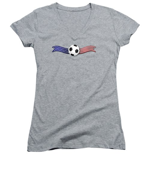 Usa Soccer Women's V-Neck