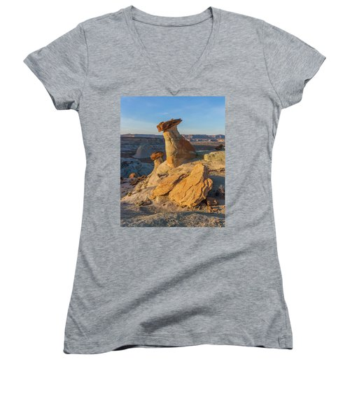 Utah Hoodoos At Sunset Women's V-Neck