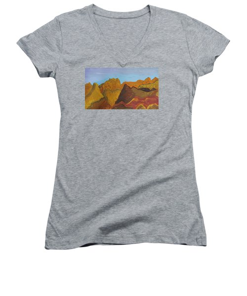 Utah Mountains Women's V-Neck (Athletic Fit)