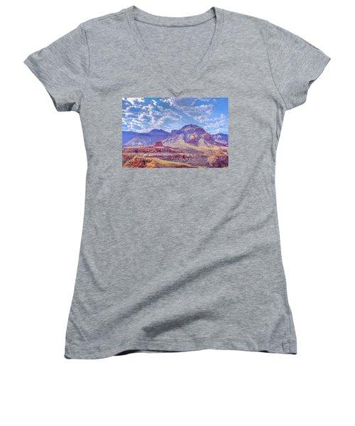 Utah Revisited Women's V-Neck T-Shirt (Junior Cut) by Mark Dunton