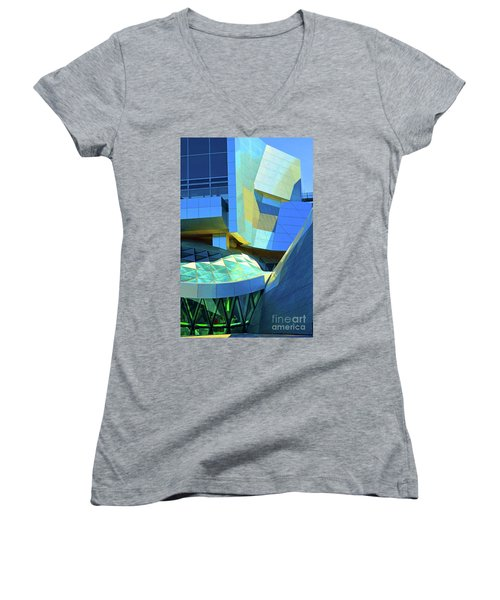 Utzon Center In Aalborg Denmark Women's V-Neck T-Shirt (Junior Cut)