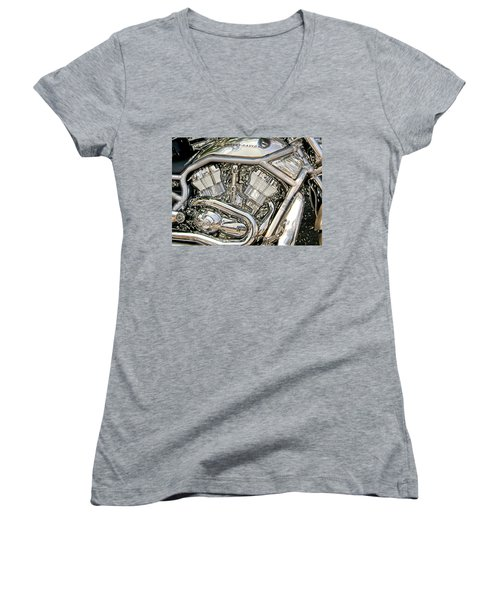 V-rod Titanium Women's V-Neck T-Shirt