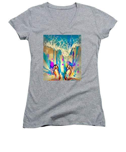 Vacation Time Women's V-Neck