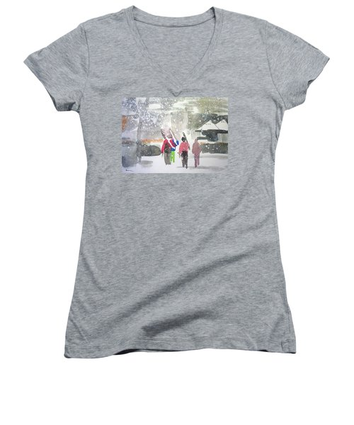 Vail,colorado  Women's V-Neck T-Shirt