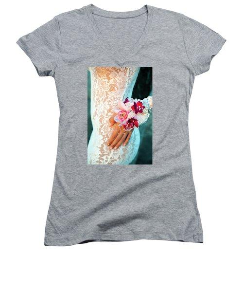 Valanquar Women's V-Neck T-Shirt (Junior Cut) by Marius Sipa