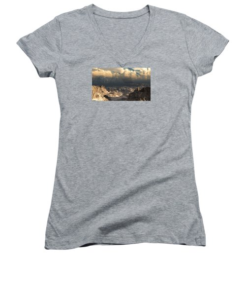 Valley At Dusk Women's V-Neck