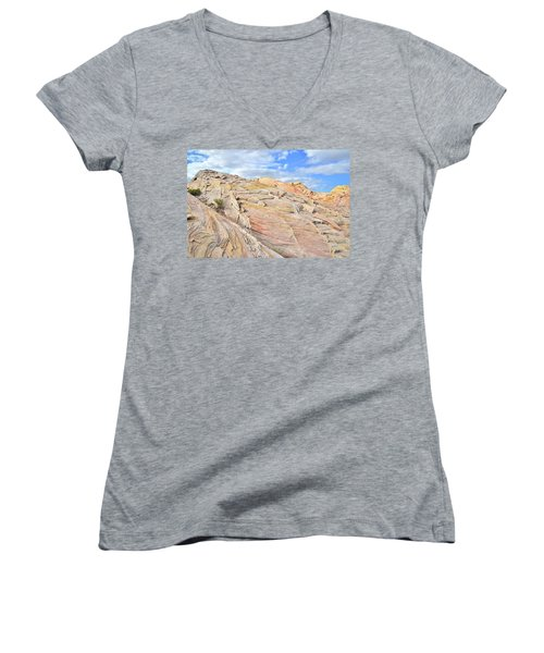 Valley Of Fire High Country Women's V-Neck T-Shirt