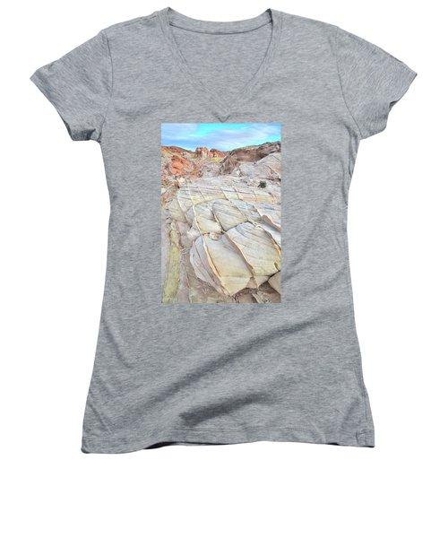 Valley Of Fire Sandstone Women's V-Neck T-Shirt