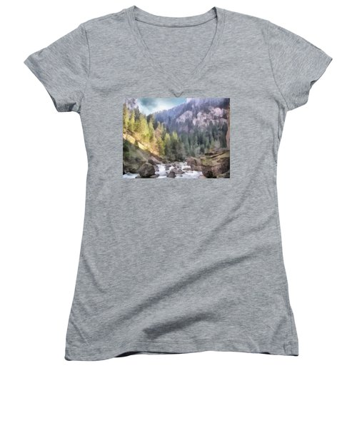 Valley Of Light And Shadow Women's V-Neck