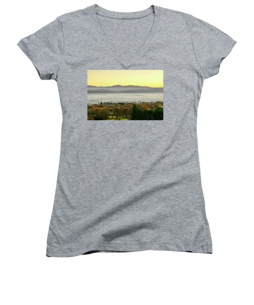 Valley Of Mist Women's V-Neck T-Shirt