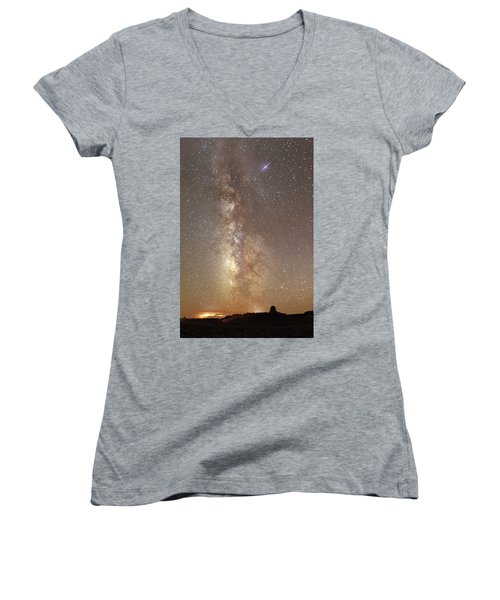 Valley Of The Gods Milky Way Women's V-Neck (Athletic Fit)