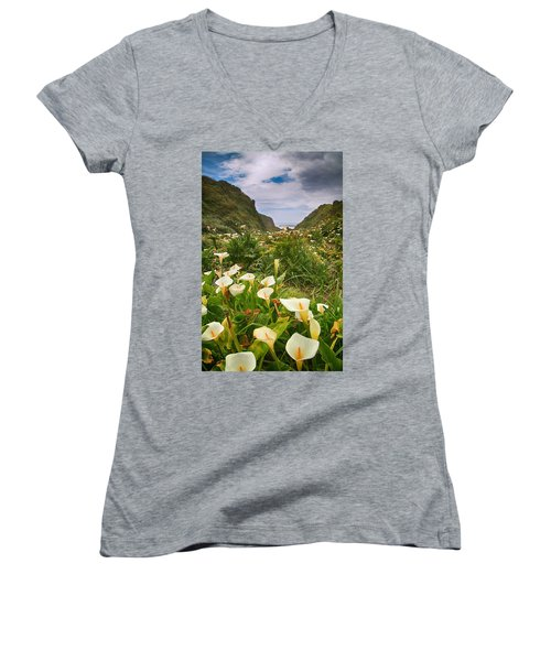 Valley Of The Lilies Women's V-Neck