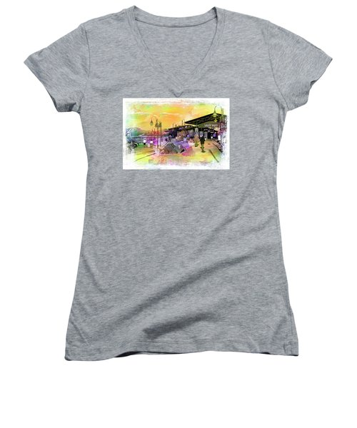Valley Wells California Women's V-Neck (Athletic Fit)