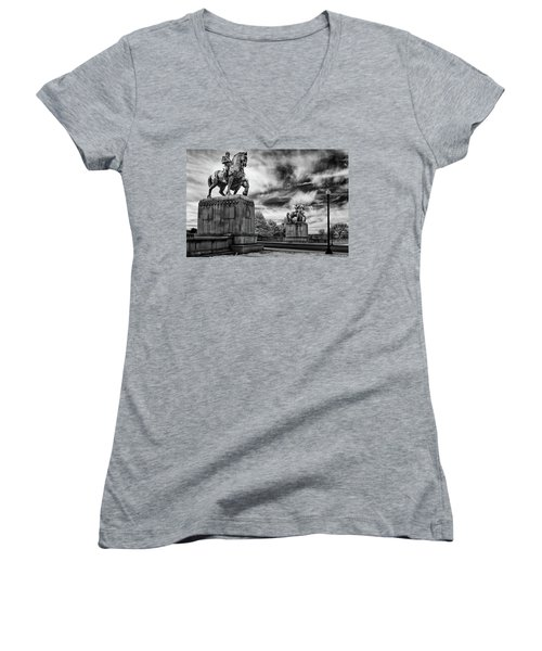 Valor Women's V-Neck T-Shirt (Junior Cut) by Paul Seymour