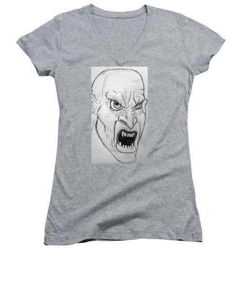 Vampire-y Ghouly Sort Of Thing Women's V-Neck T-Shirt (Junior Cut) by Yshua The Painter