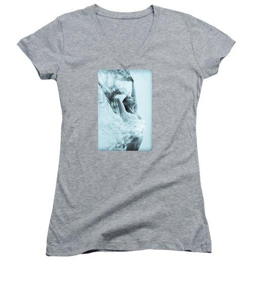Vanishing  Women's V-Neck T-Shirt