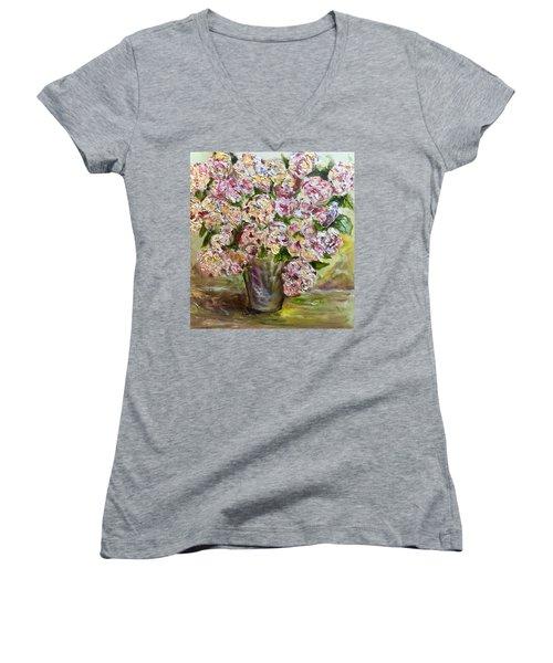 Vase Of Flowers Women's V-Neck T-Shirt