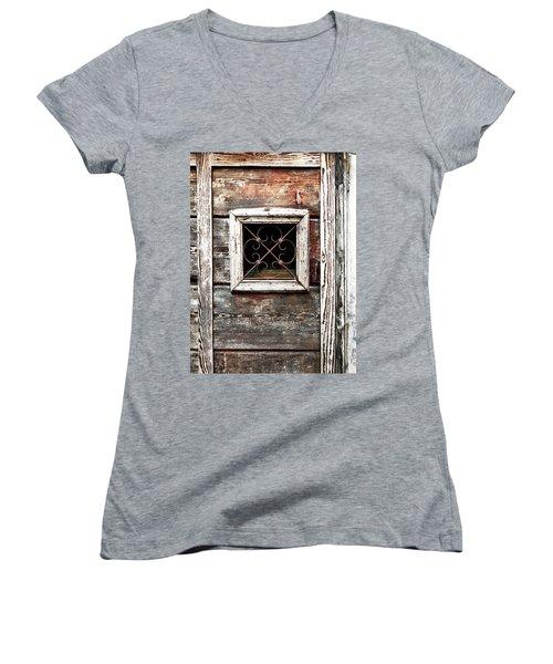 Venetian Window Women's V-Neck