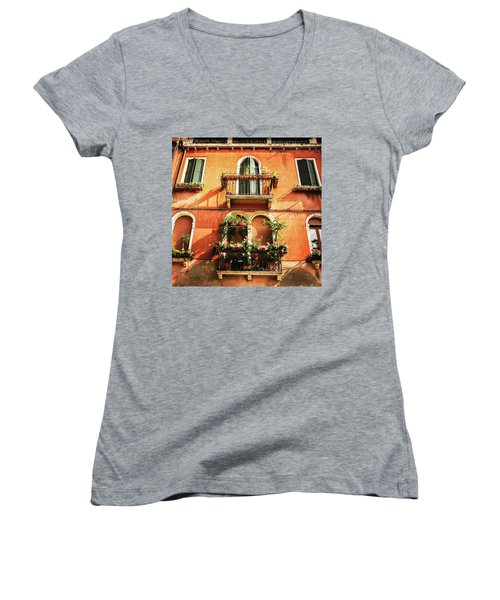 Venetian Windows Women's V-Neck