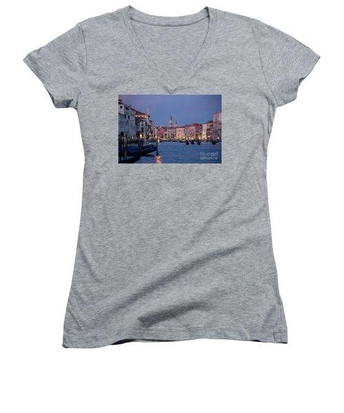 Venice Blue Hour 2 Women's V-Neck T-Shirt