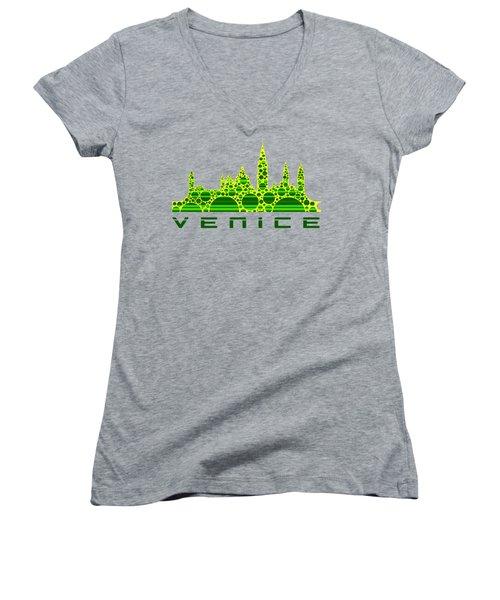 Venice Cool Skyline 3 Women's V-Neck