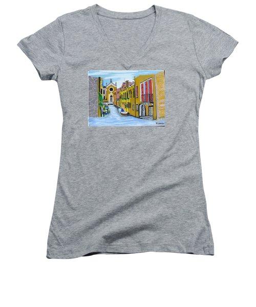 Venice In September Women's V-Neck T-Shirt