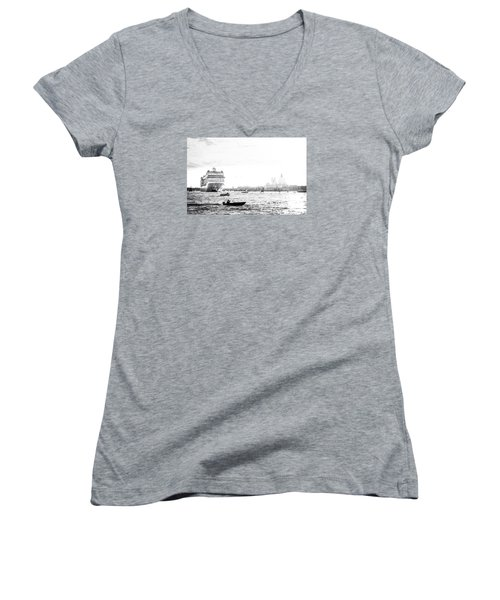 Venice In The Age Of Mass Tourism Women's V-Neck (Athletic Fit)