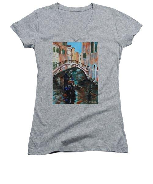 Venice Morning Women's V-Neck T-Shirt