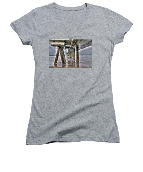 Venice Pier Industrial Women's V-Neck (Athletic Fit)