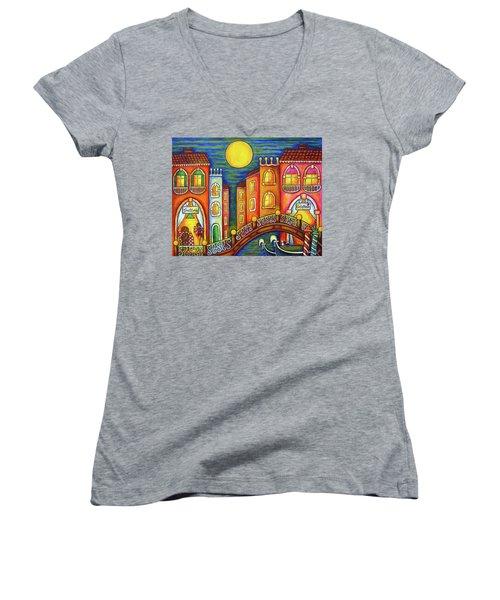 Venice Soiree Women's V-Neck T-Shirt