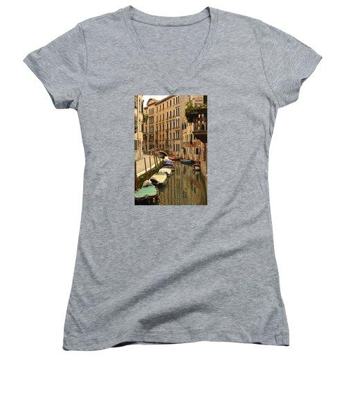 Venice Street Scene 2 Women's V-Neck T-Shirt