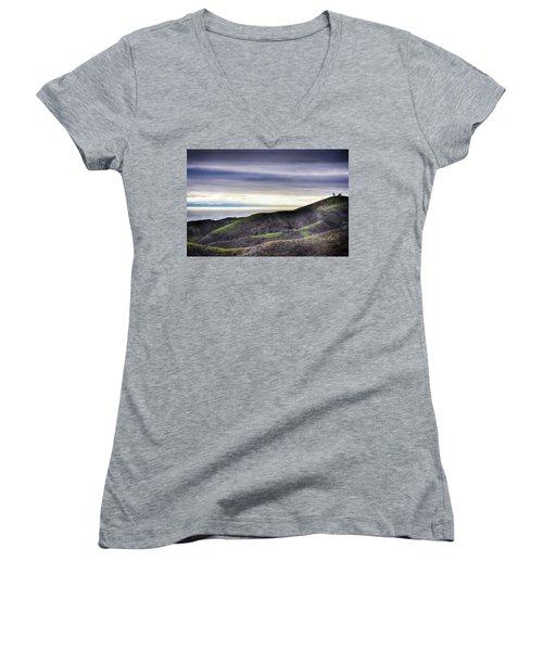 Ventura Two Sisters Women's V-Neck T-Shirt (Junior Cut) by Kyle Hanson