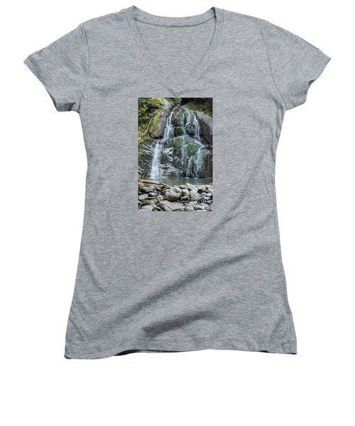 Vermont Waterfall Women's V-Neck (Athletic Fit)