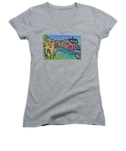 Vernazza Alight Women's V-Neck T-Shirt (Junior Cut)