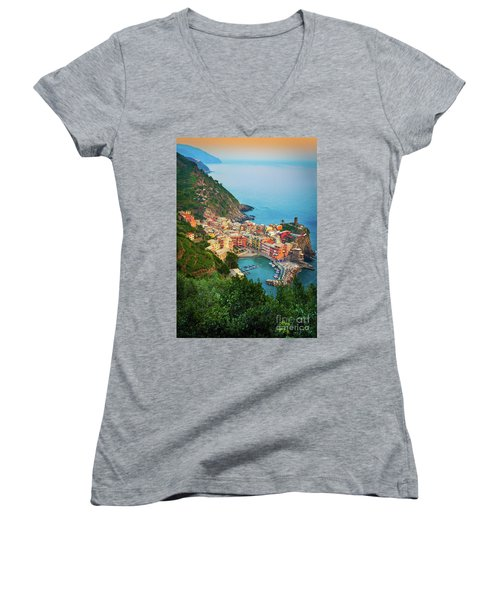 Vernazza From Above Women's V-Neck (Athletic Fit)