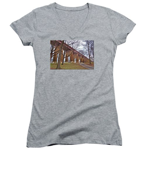 Viaduct Women's V-Neck T-Shirt (Junior Cut)