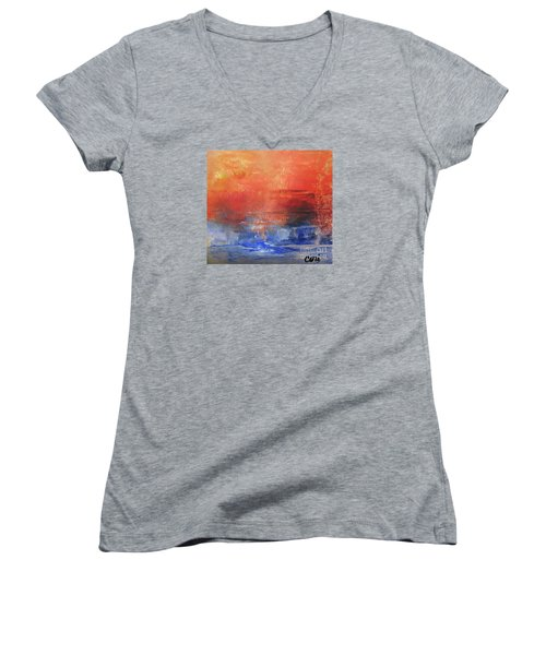 Vibrance Of Fall Women's V-Neck T-Shirt