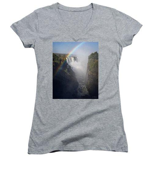 Victoria Falls No. 3 Women's V-Neck T-Shirt