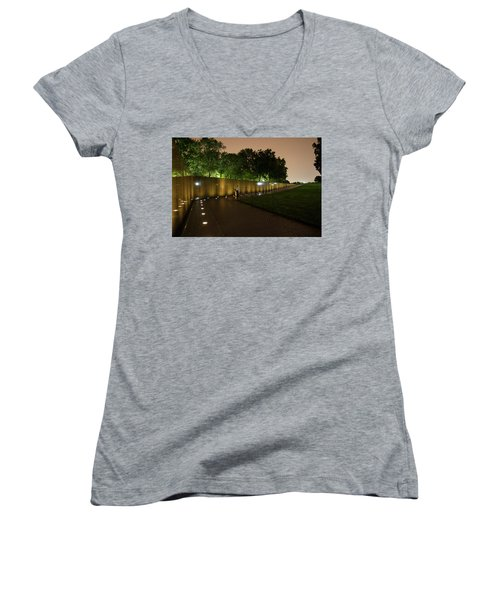 Vietnam Memorial By Night Women's V-Neck (Athletic Fit)