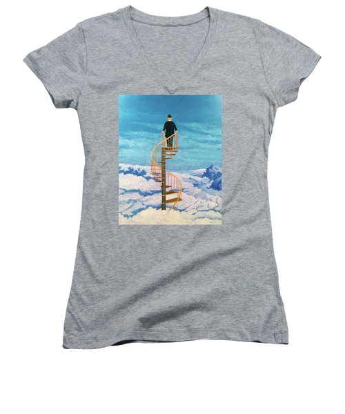 View From Above Women's V-Neck (Athletic Fit)