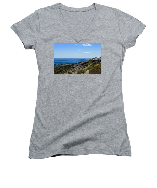View From Cadillac Mountain Women's V-Neck