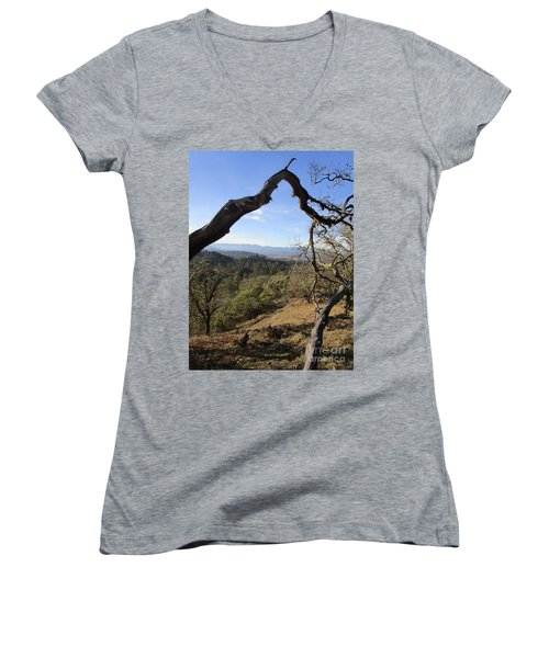 View From Cathedral Hills Women's V-Neck (Athletic Fit)