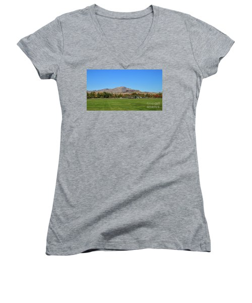 View From Gem Island Sport Complex Women's V-Neck (Athletic Fit)