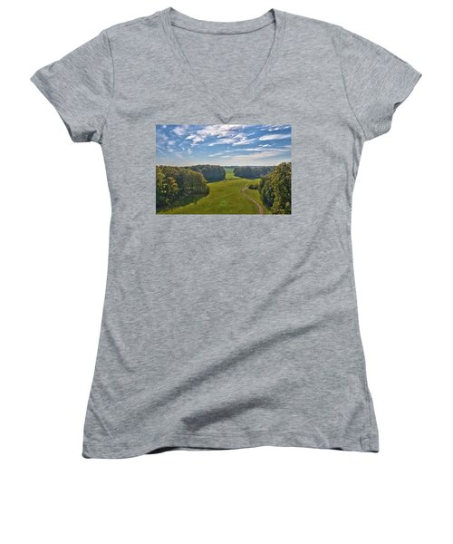 View From Lilac Mountain Women's V-Neck