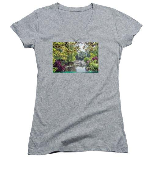 View From Monet's Bridge Women's V-Neck