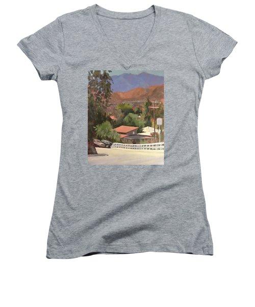 View From Moon Women's V-Neck T-Shirt (Junior Cut) by Richard Willson