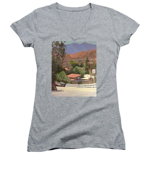 View From Moon Women's V-Neck T-Shirt