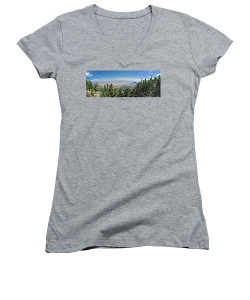 View From Mount San Jacinto Women's V-Neck T-Shirt