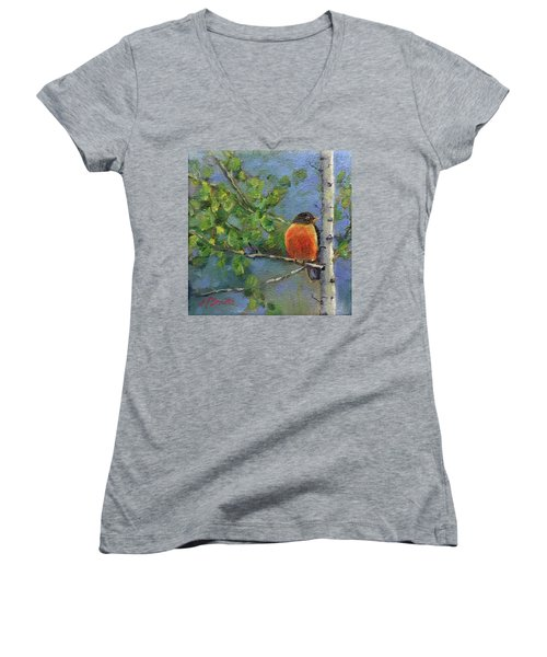 View From My Window Women's V-Neck (Athletic Fit)